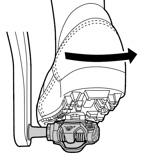 Вищібання з контактної педалі