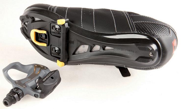 Шосейні педалі і шипи від Shimano